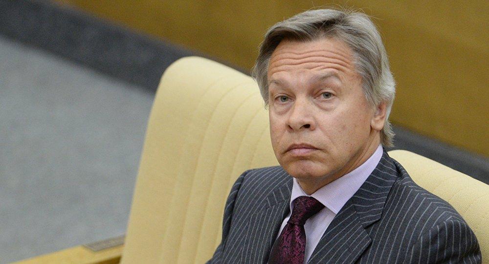 Przewodniczący Komisji Spraw Zagranicznych Dumy Państwowej Rosji Aleksiej Puszkow