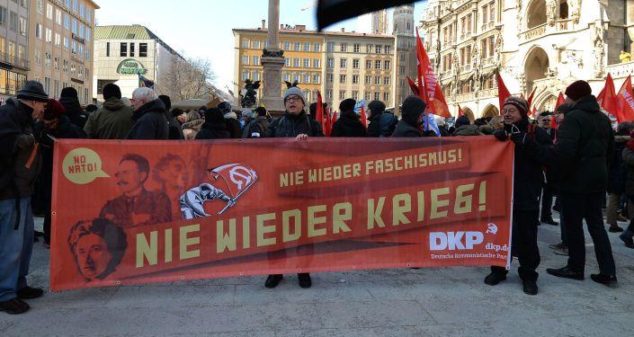 Akcja protestacyjna przeciwko NATO w Monachium