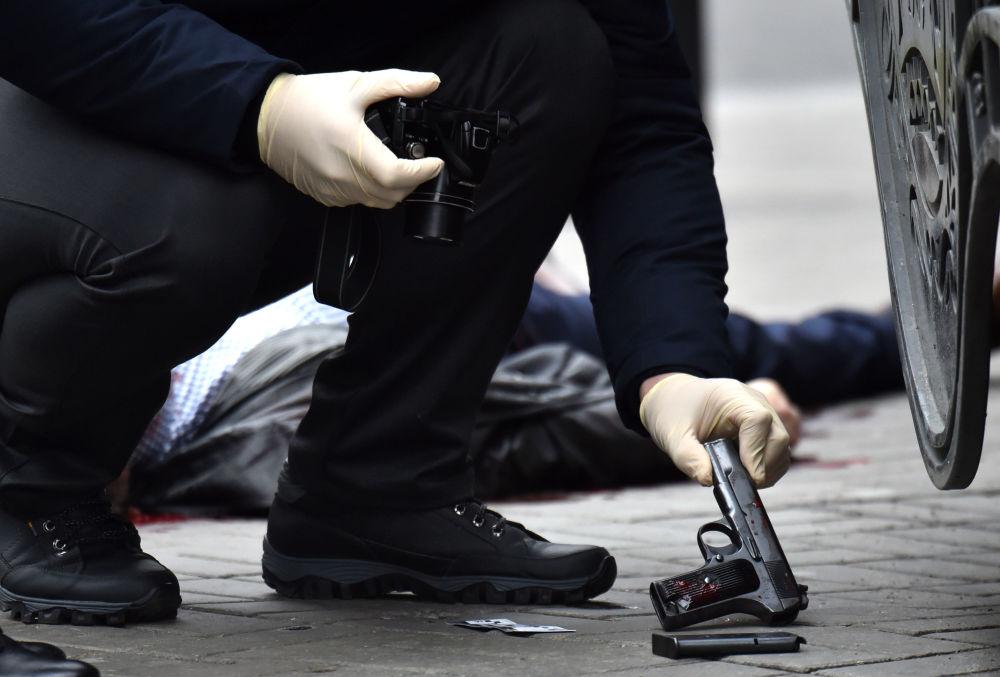 Zabójstwo w centrum Kijowa