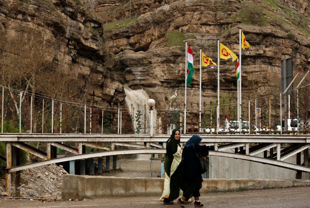Wodospad w górach na północy miasta Erbil