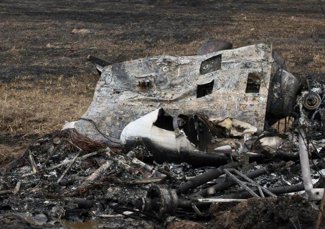 Ukraiński śmigłowiec wojskowy Mi-2 rozbił się w niedzielę pod Kramatorskiem