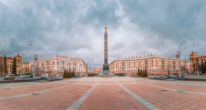 Plac Zwycięstwa w Mińsku