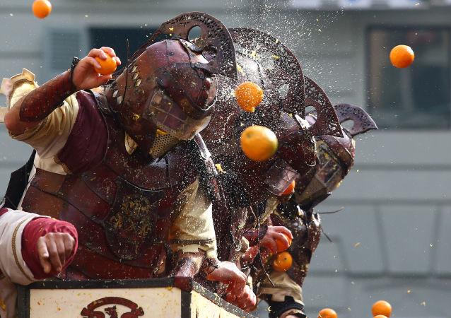 Bitwa na pomarańcze we Włoszech