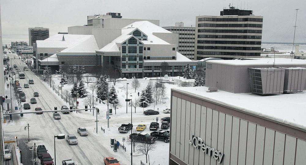 Miasto Anchorage w stanie Alaska, USA