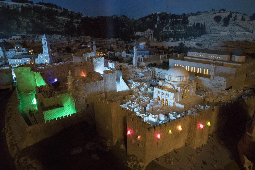 Makieta izraelskiego miasta.