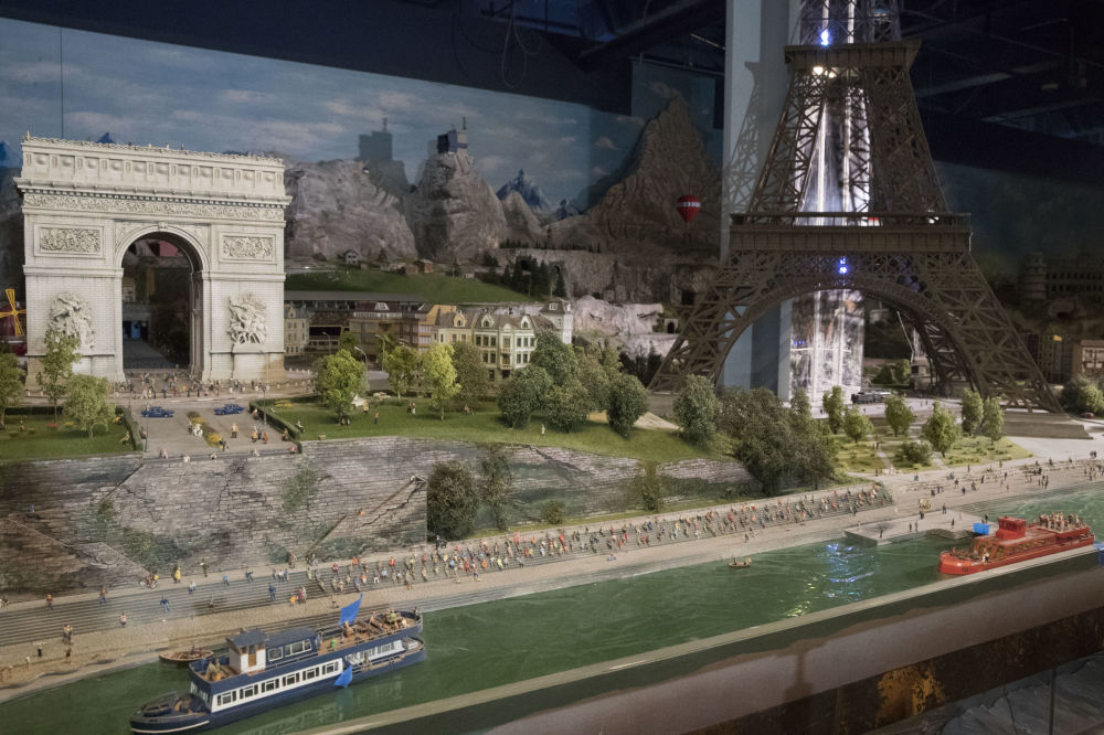 Makieta centrum Paryża.