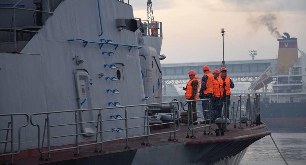 Marynarka wojenna Ukrainy i Turcji podczas strzałów rakietowych w Odessie