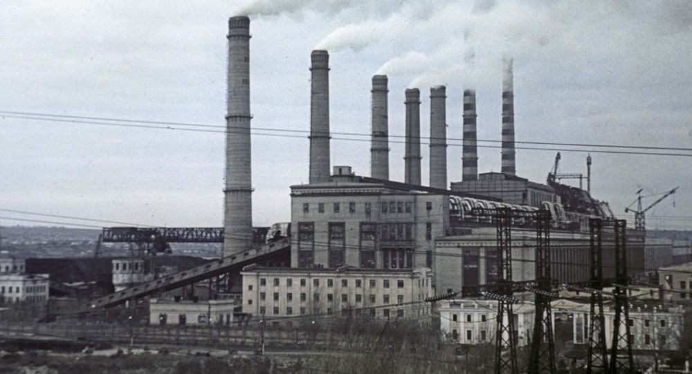 Elektrownia cieplna Pridnieprowska. Zdjęcie archiwalne