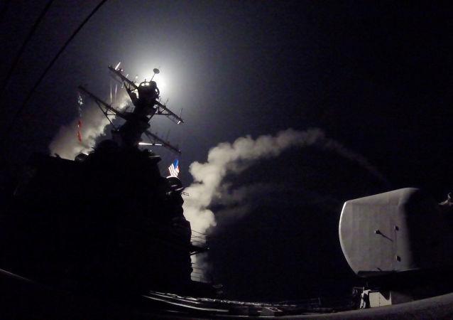 Amerykański niszczyciel atakuje syryjską bazę lotniczą