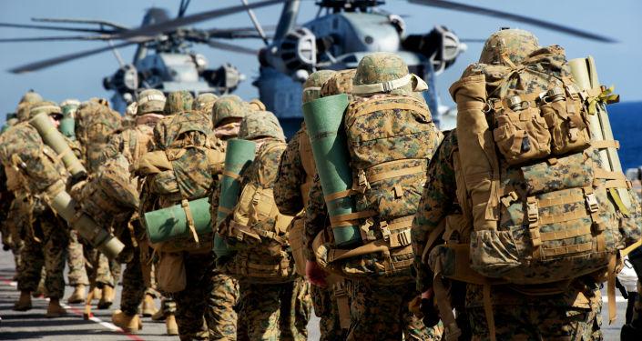 Żołnierze amerykańskiej piechoty morskiej
