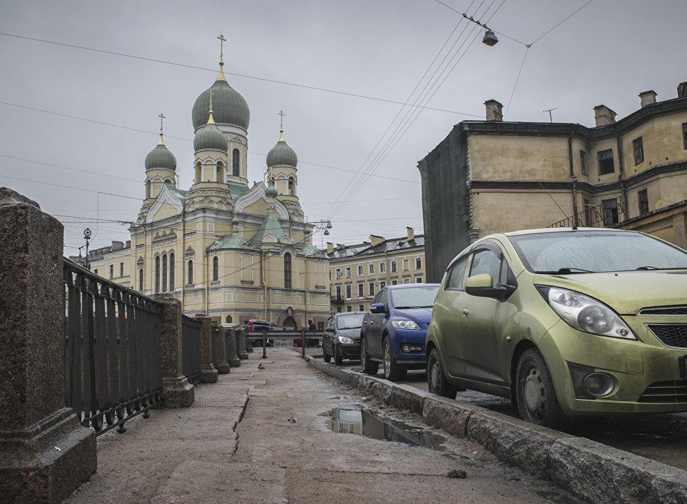Cerkiew św. Izydora należąca do prawosławnego estońskiego braterstwa w Petersburgu.