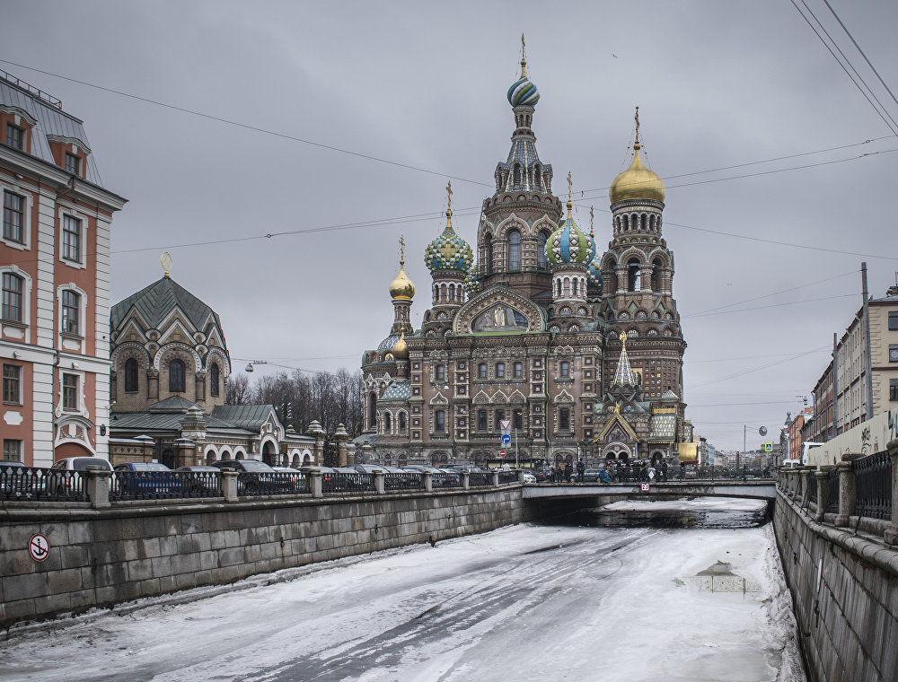 Sobór Zmartwychwstania Pańskiego (Cerkiew na Krwi) w Petersburgu.