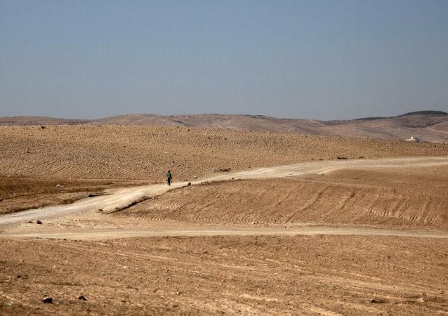 Widok na pustynię Negew w Izraelu