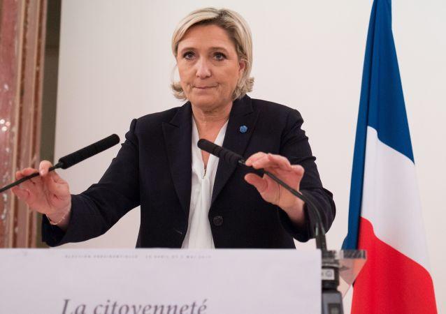 Kandydatka na stanowisko prezydenta Francji, liderka francuskiej partii Front Narodowy Marine Le Pen