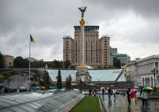 Kolumna niezależności Ukrainy na Placu Niepodległości w Kijowie