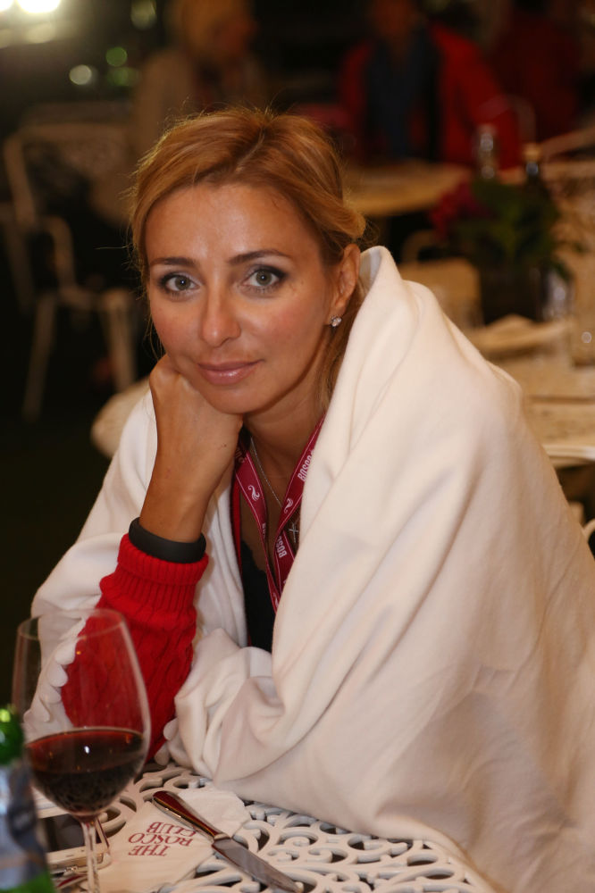 Łyżwiarka Tatjana Nawka w Bosco Club w Londynie.