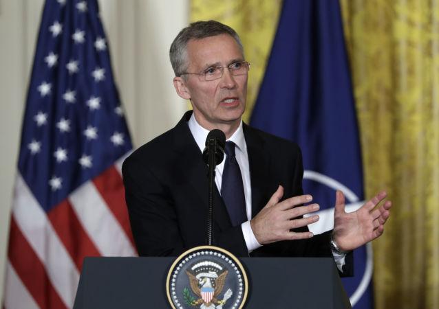 Sekretarz generalny NATO Jens Stoltenberg w Waszyngtonie