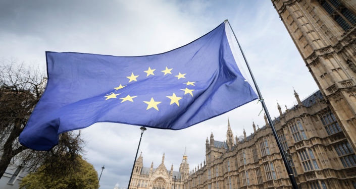 Flaga UE w Londynie