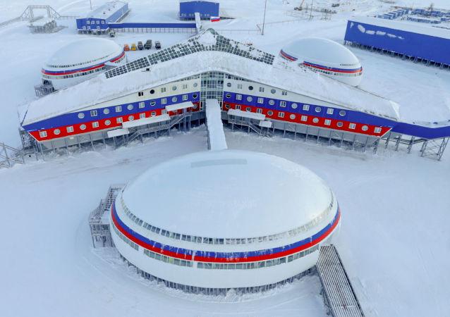 Rosyjska baza wojskowa na wyspie Ziemia Aleksandry archipelagu Ziemia Franciszka-Józefa