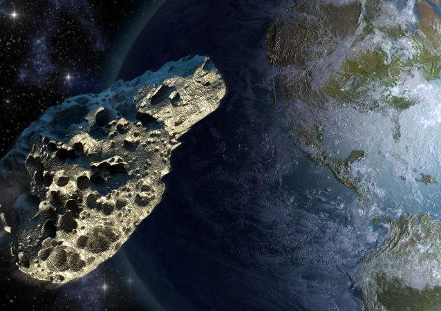 Asteroida na tle Ziemi