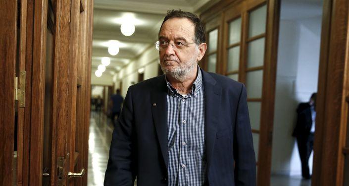 Minister reformy przemysłowej, ochrony środowiska i energetyki Grecji Panagiotis Lafazanis
