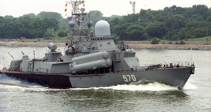 """Mały okręt rakietowy """"Liwień"""". Zdjęcie archiwalne"""