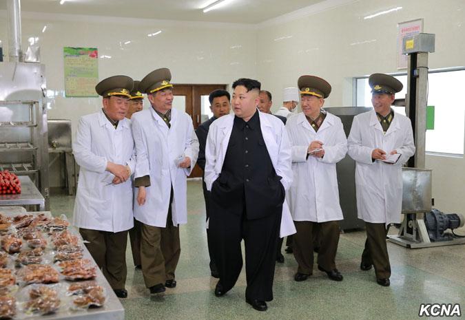 Wizyta Kim Dzong Una w fabryce mięsnej Taechon