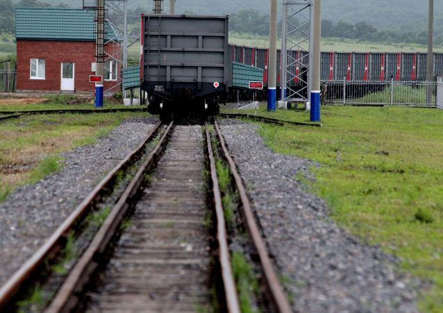 Pociąg towarowy na granicy chińsko-rosyjskiej