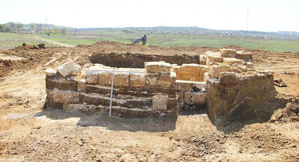 Starożytna krypta na Krymie