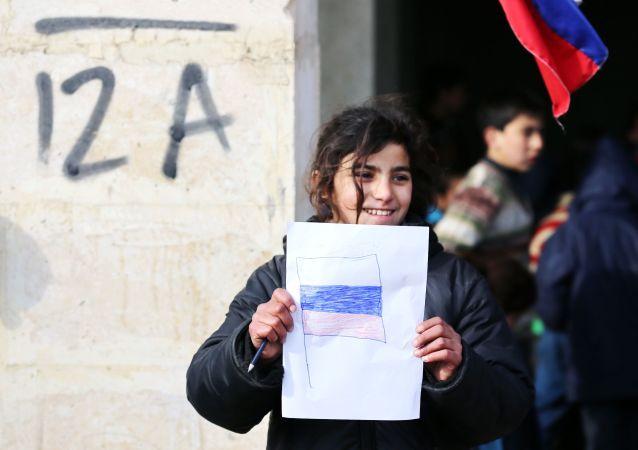 """Są to oznaki """"wdzięczności narodu syryjskiego narodowi rosyjskiemu za pomoc""""."""