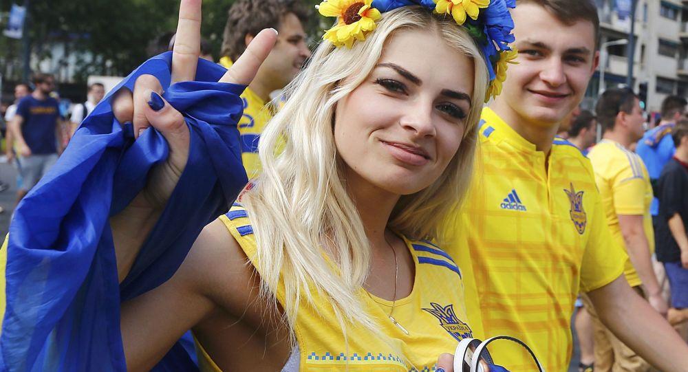 Kibicka z Ukrainy