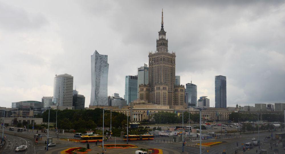 Pałac Kultury i Nauki na Placu Defilad w Warszawie