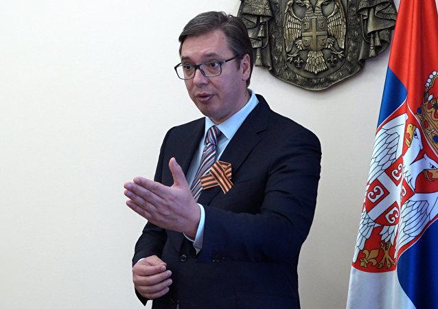Premier Serbii Aleksandar Vučić