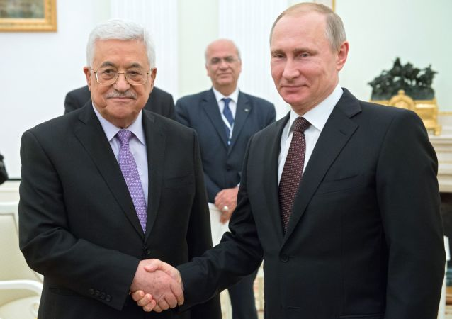 Władimir Putin i Mahmud Abbas