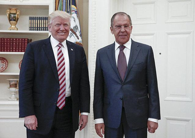 Donald Trump i Siergiej Ławrow