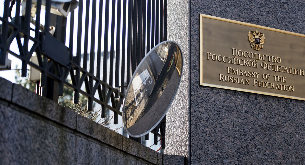 Budynek ambasady Rosji w Waszyngtonie