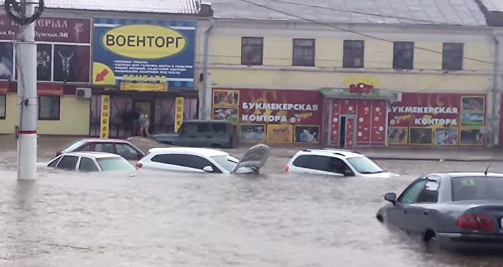 Ulewa w Kursku (Rosja)