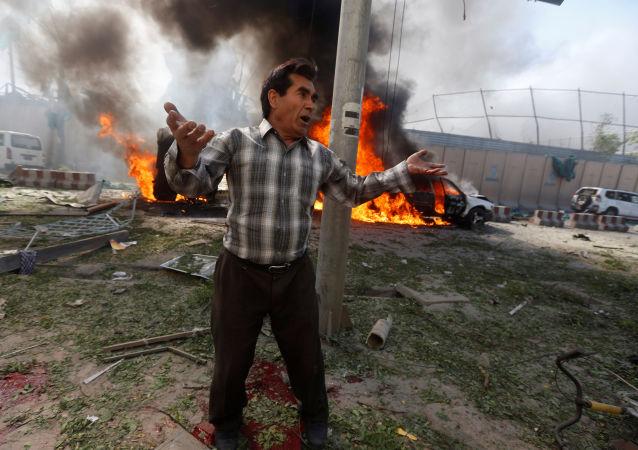 Miejsce wybuchu w Kabulu