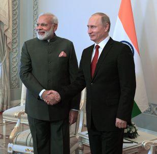 Premier Indii Narenda Modi i prezydent Rosji Władimir Putin
