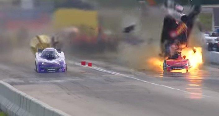 Samochód eksplodował przy prędkości ponad 500 km/h