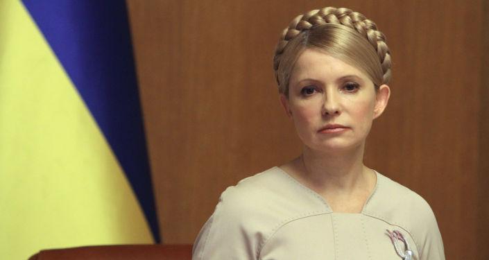 Premier Ukrainy Julia Tymoszenko podczas posiedzenia ukraińskiego rządu