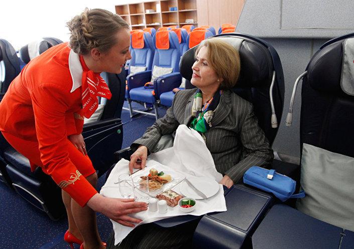 Stewardessa rosyjskiego Aeroflotu