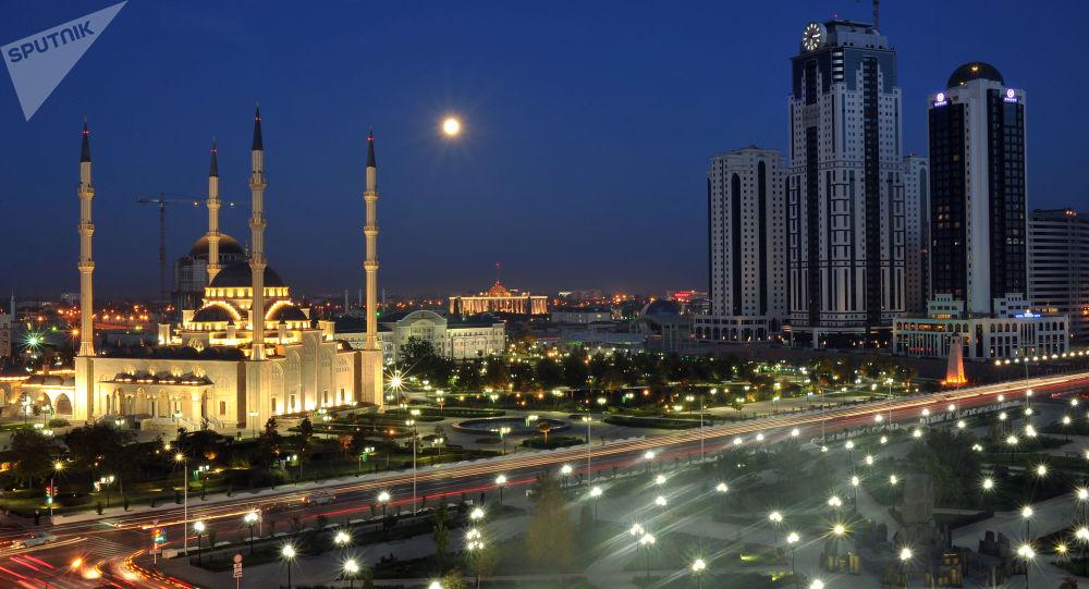 Grozny. Meczet Serce Czeczenii.