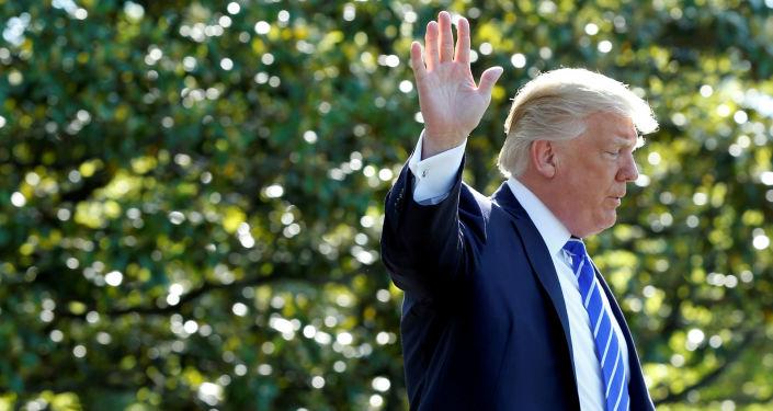 Prezydent USA Donald Trump w Waszyngtonie