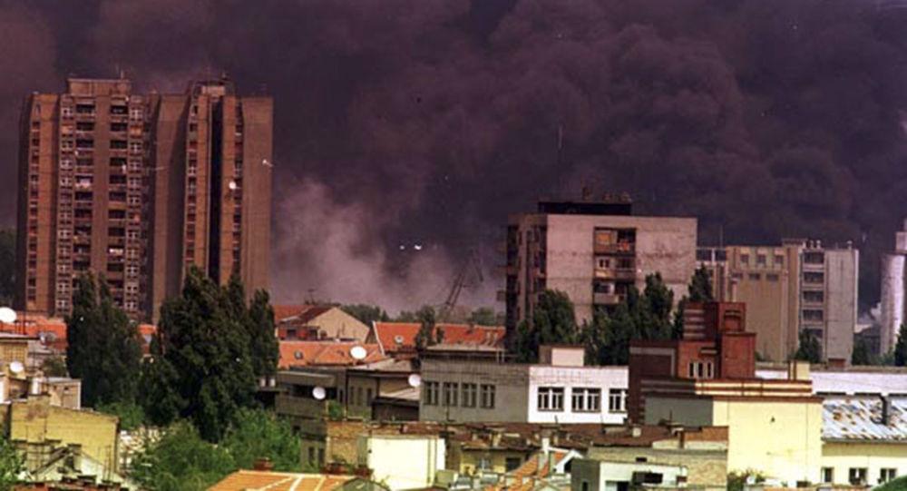 Miasto Nowy Sad w czasie bombardowań lotnictwa NATO