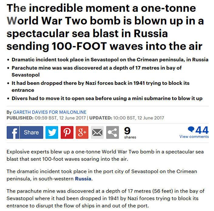 Screenshot artykułu brytyjskiej gazety Daily Mail