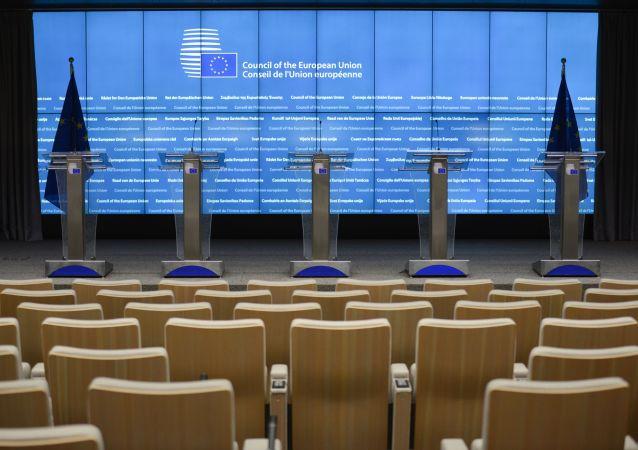 Sala posiedzeń w siedzibie Komisji Europejskiej w Brukseli