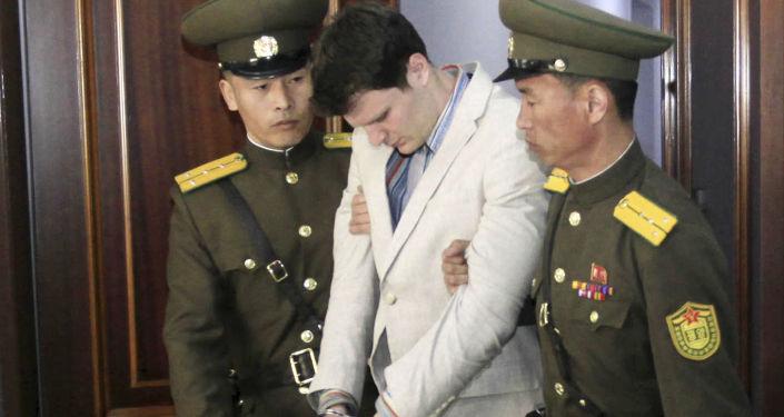 Amerykański student Otto Warmbier w Pjongjangu
