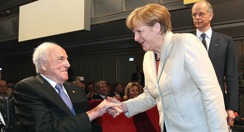 Helmut Kohl i Angela Merkel
