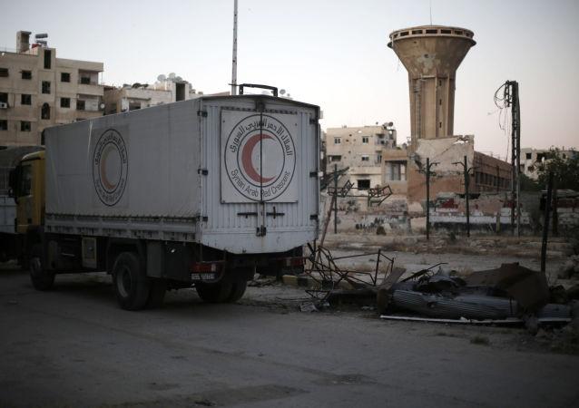 Atak na konwój humanitarny w syryjskiej Haraście